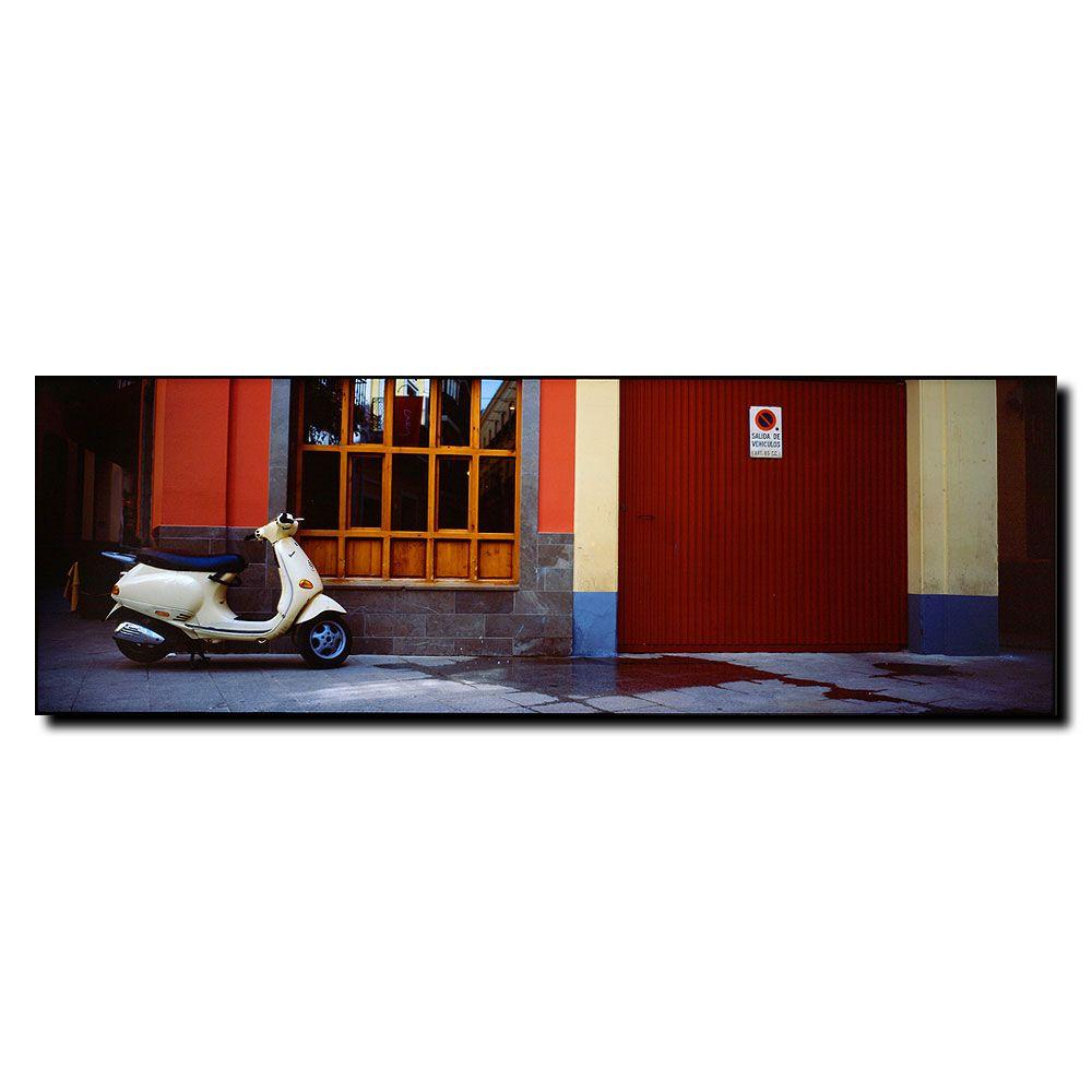 null 8 in. x 24 in. Scooter in Spain Canvas Art