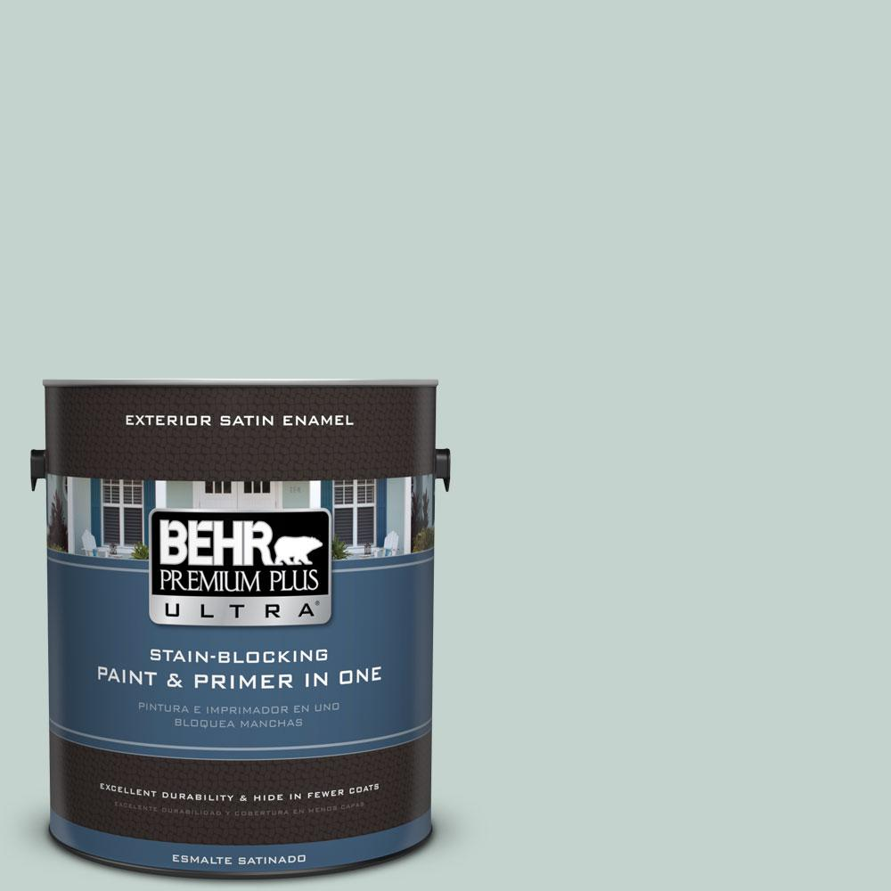 1 gal. #N430-2 Nature's Reflection Satin Enamel Exterior Paint