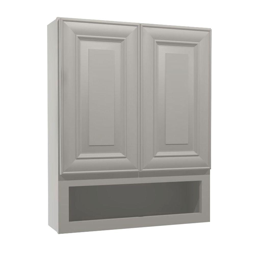 Brookfield Assembled 24x30x7 in. Boutique Wall Vanity Cabinet in Pacific White