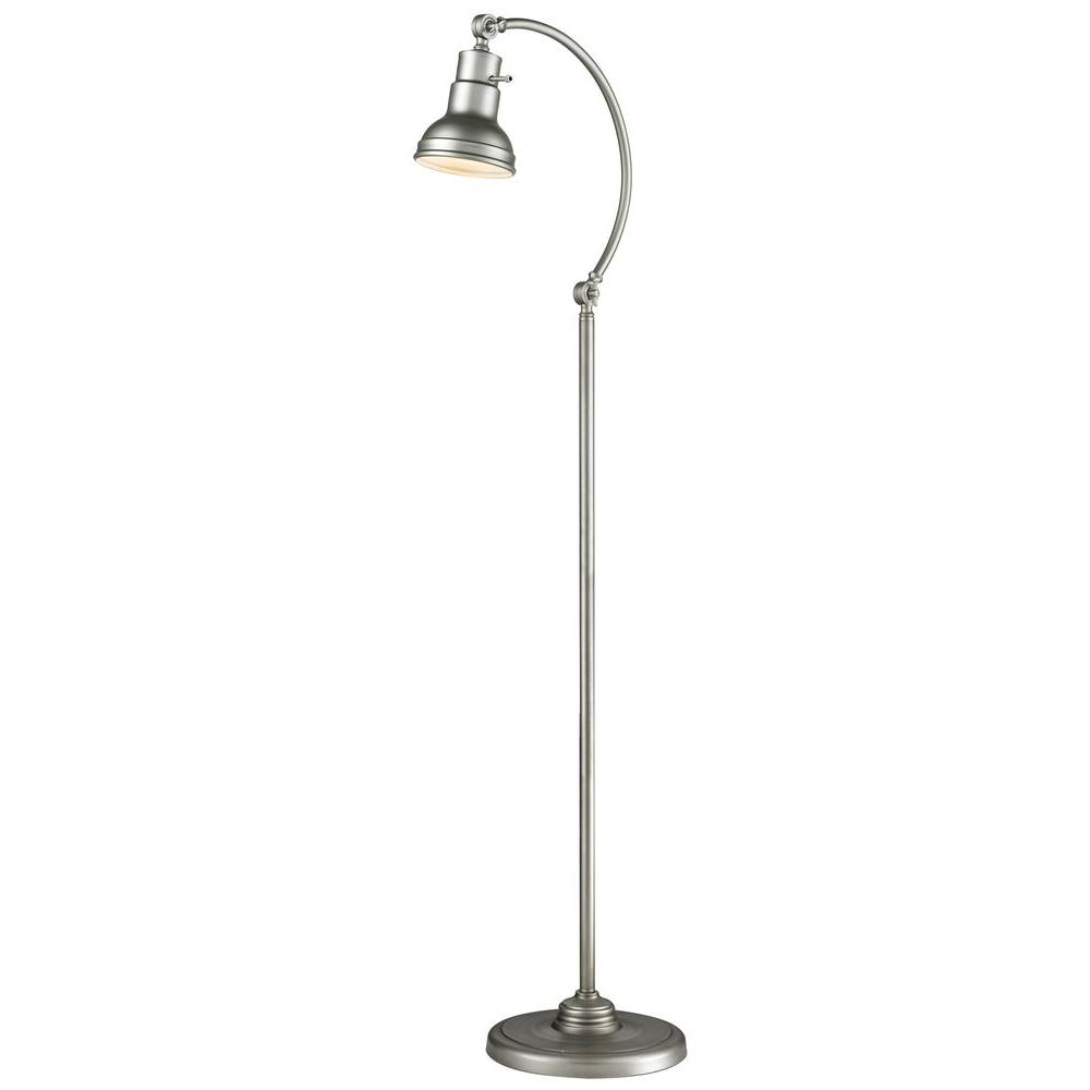 Filament Design Nicolay 59.2 in. Burnished Silver Floor Lamp