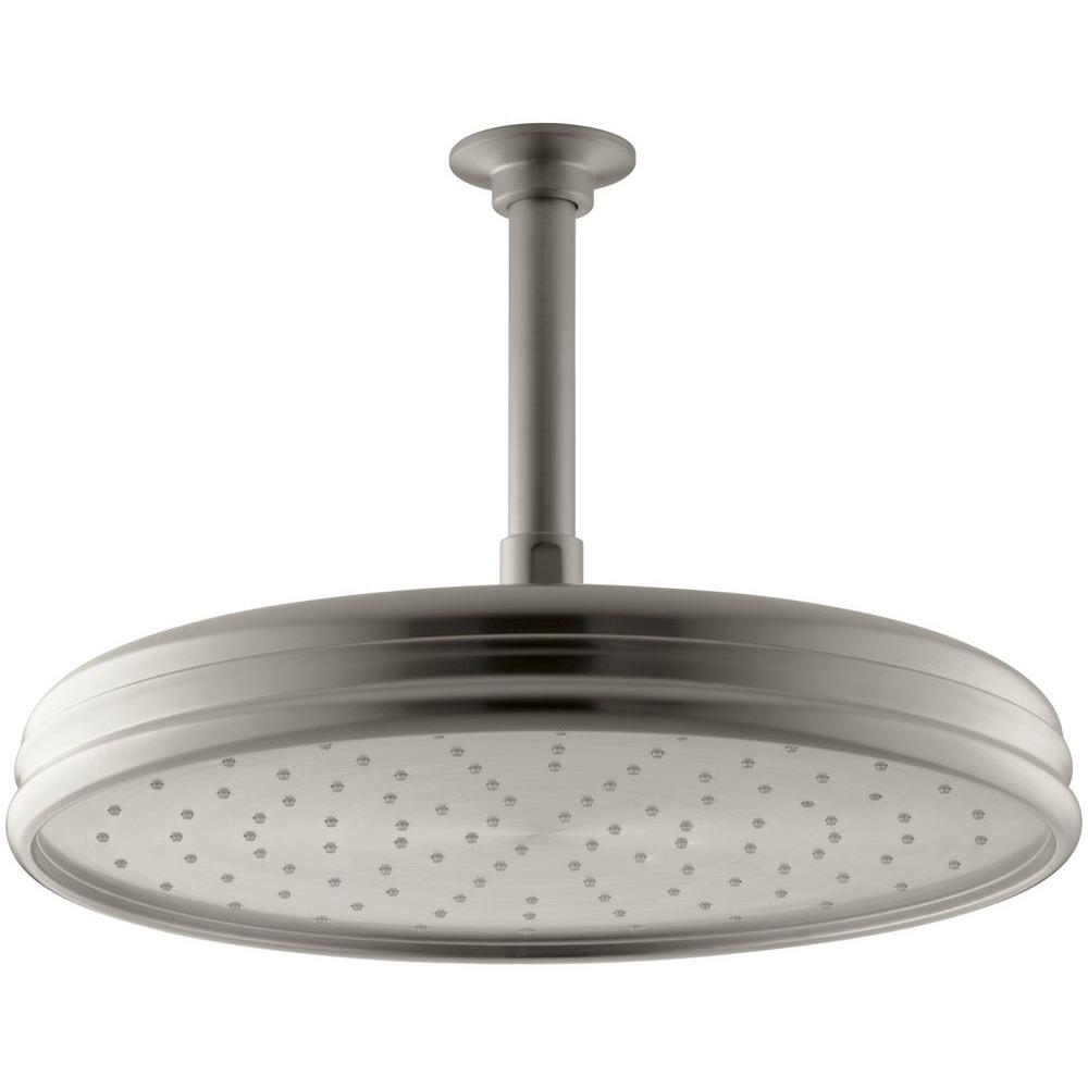 kohler moxie 1 spray in rainhead with wireless speaker showerhead in v. Black Bedroom Furniture Sets. Home Design Ideas