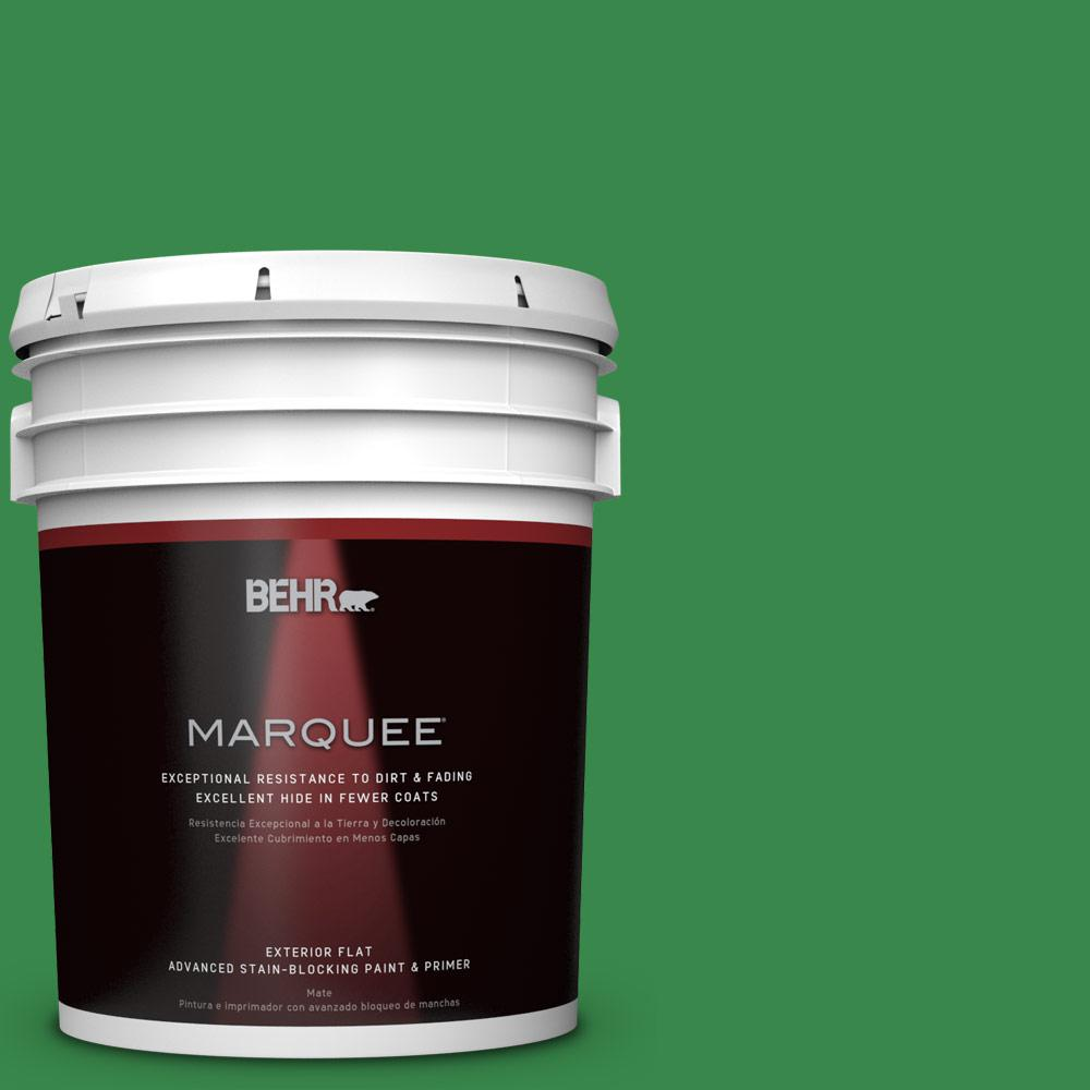 BEHR MARQUEE 5-gal. #P400-7 Paradise of Greenery Flat Exterior Paint