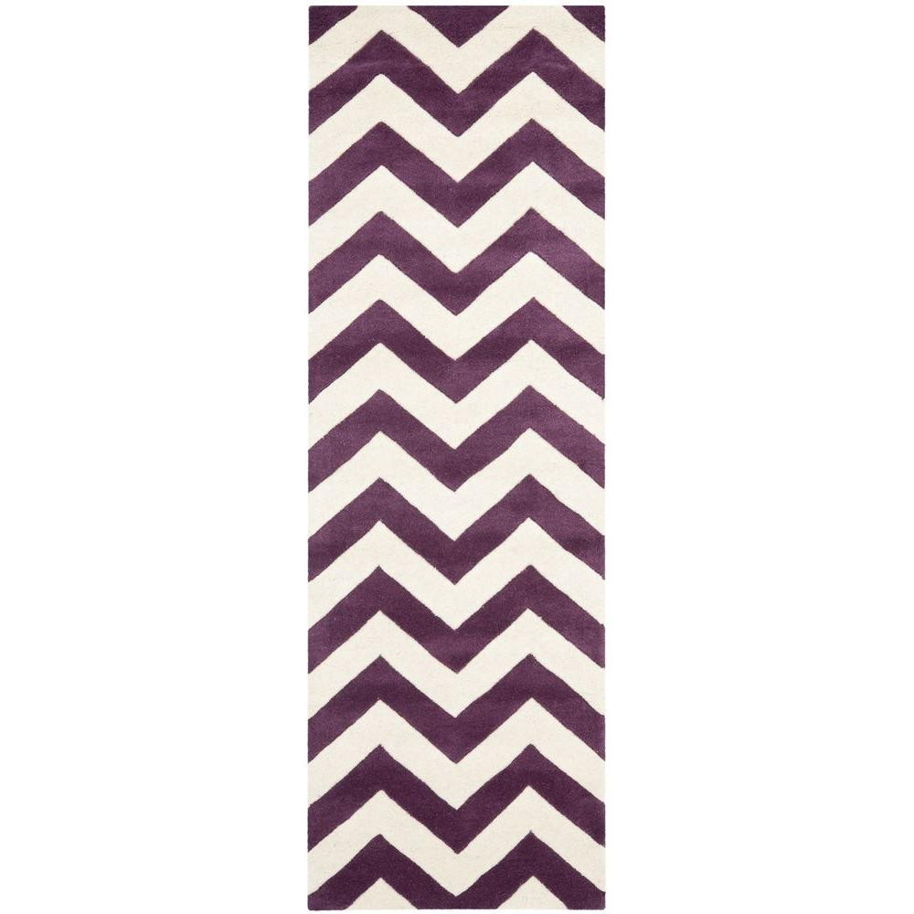 Chatham Purple/Ivory 2 ft. 3 in. x 7 ft. Runner