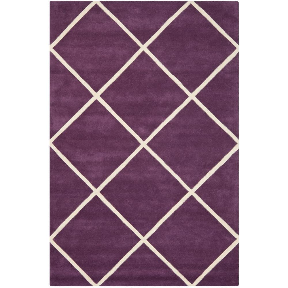 Chatham Purple/Ivory 6 ft. x 9 ft. Area Rug