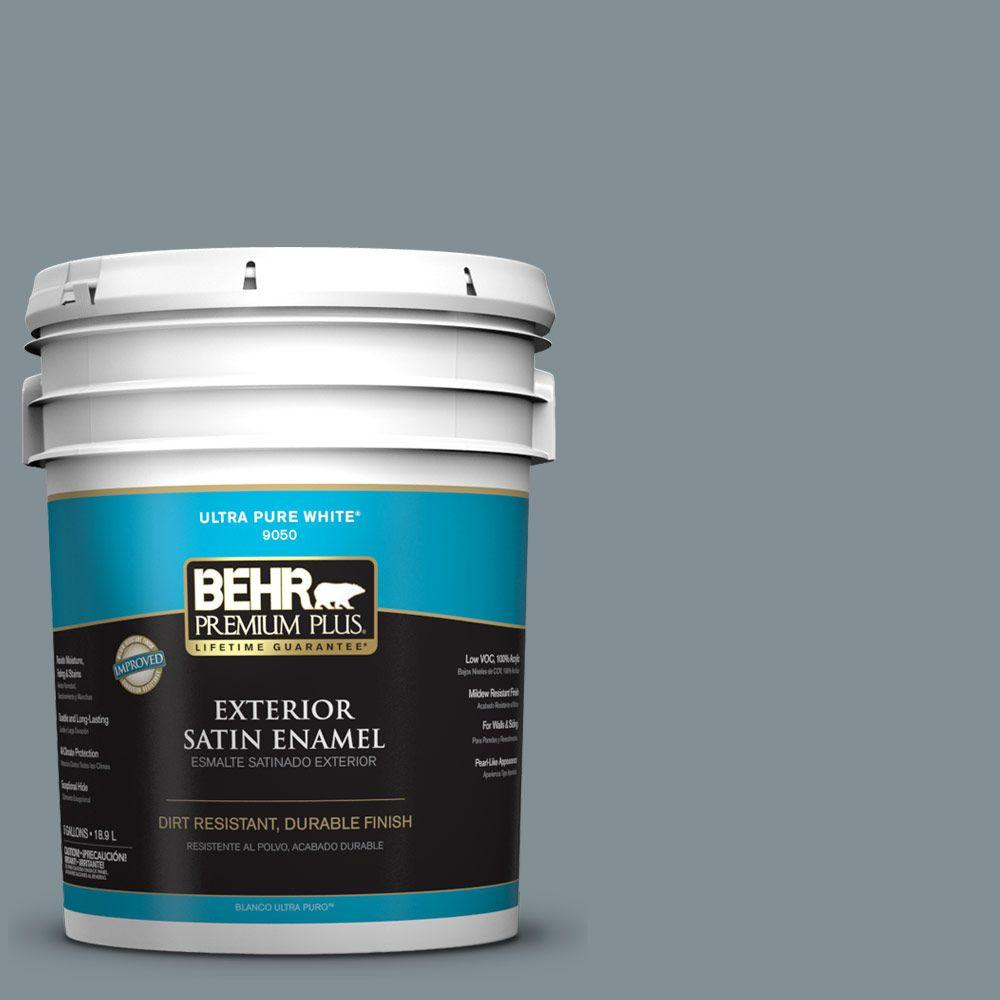 5-gal. #740F-4 Dark Storm Cloud Satin Enamel Exterior Paint