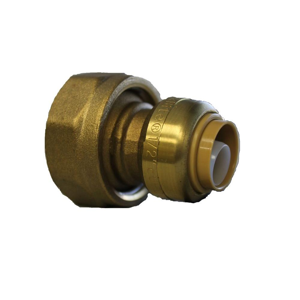 SharkBite 1 in. Flange x 1/2 in. Push-to-Connect Brass Water Meter Adapter