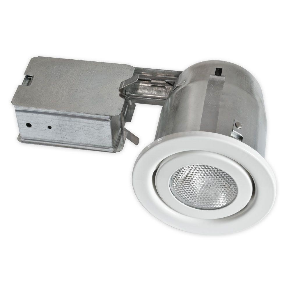 BAZZ 500 Series 4 in. White Recessed Halogen Lighting Kit-500-140 -