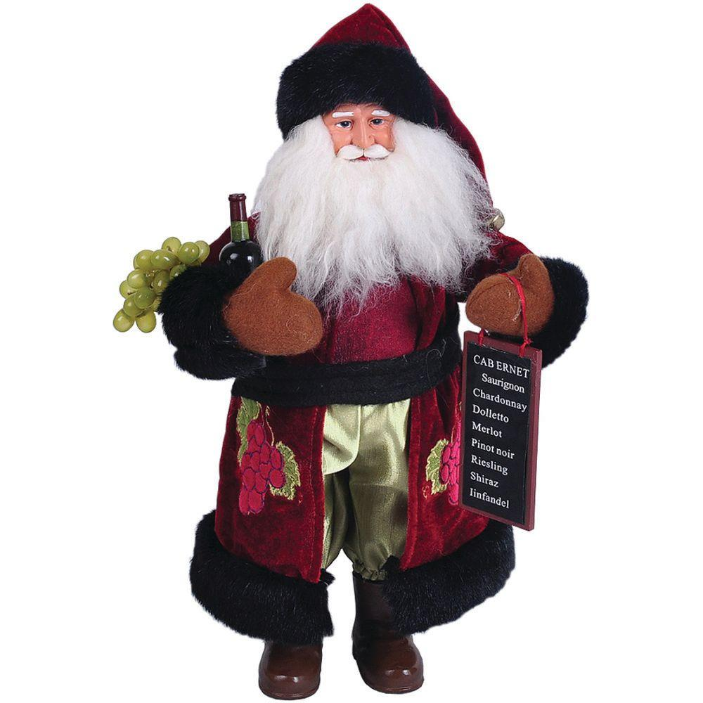 15 in. Wine Santa with Wine List