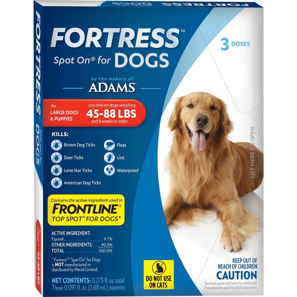 Fortress by Adams Flea and Tick Topical for Large Dogs 45 lbs. - 88 lbs. 3 Doses