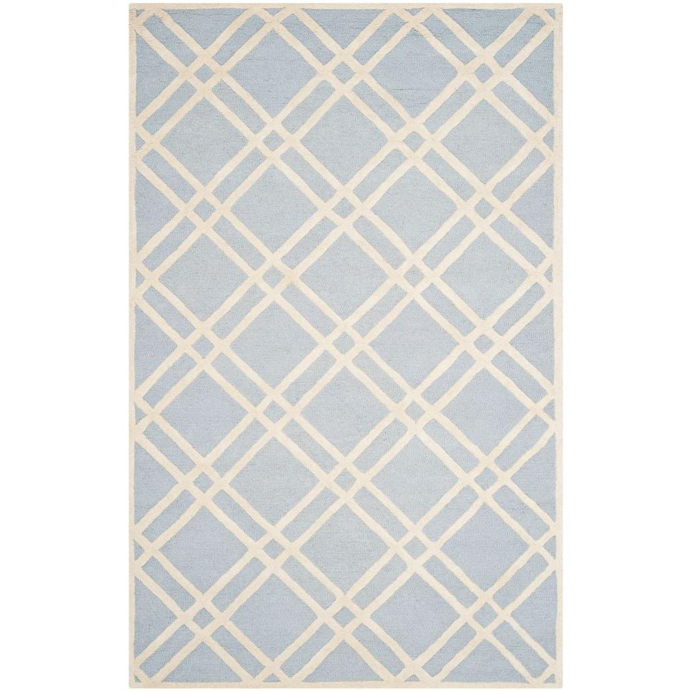 Cambridge Light Blue/Ivory 8 ft. x 10 ft. Area Rug