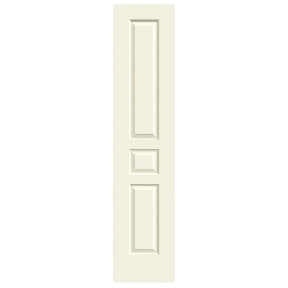 18 in. x 80 in. Avalon Vanilla Painted Textured Hollow Core