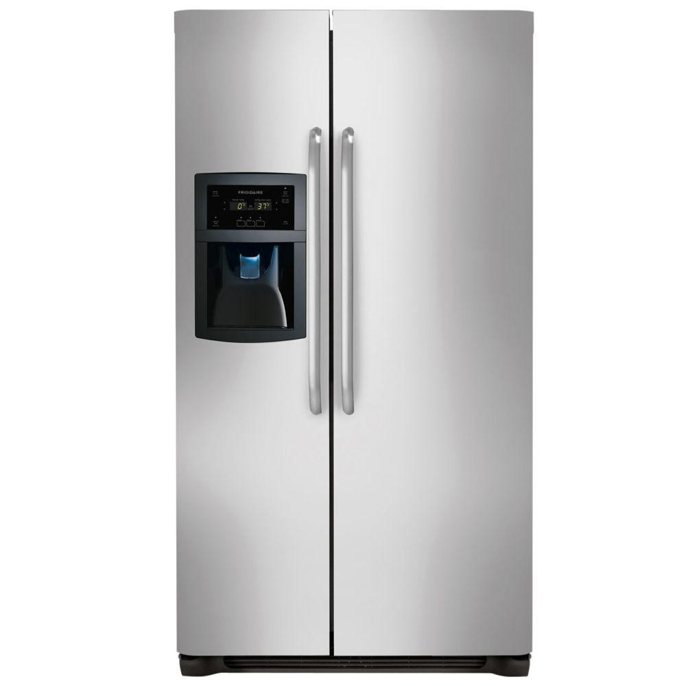 22.16 cu. ft. Side by Side Refrigerator in Stainless Steel, Counter
