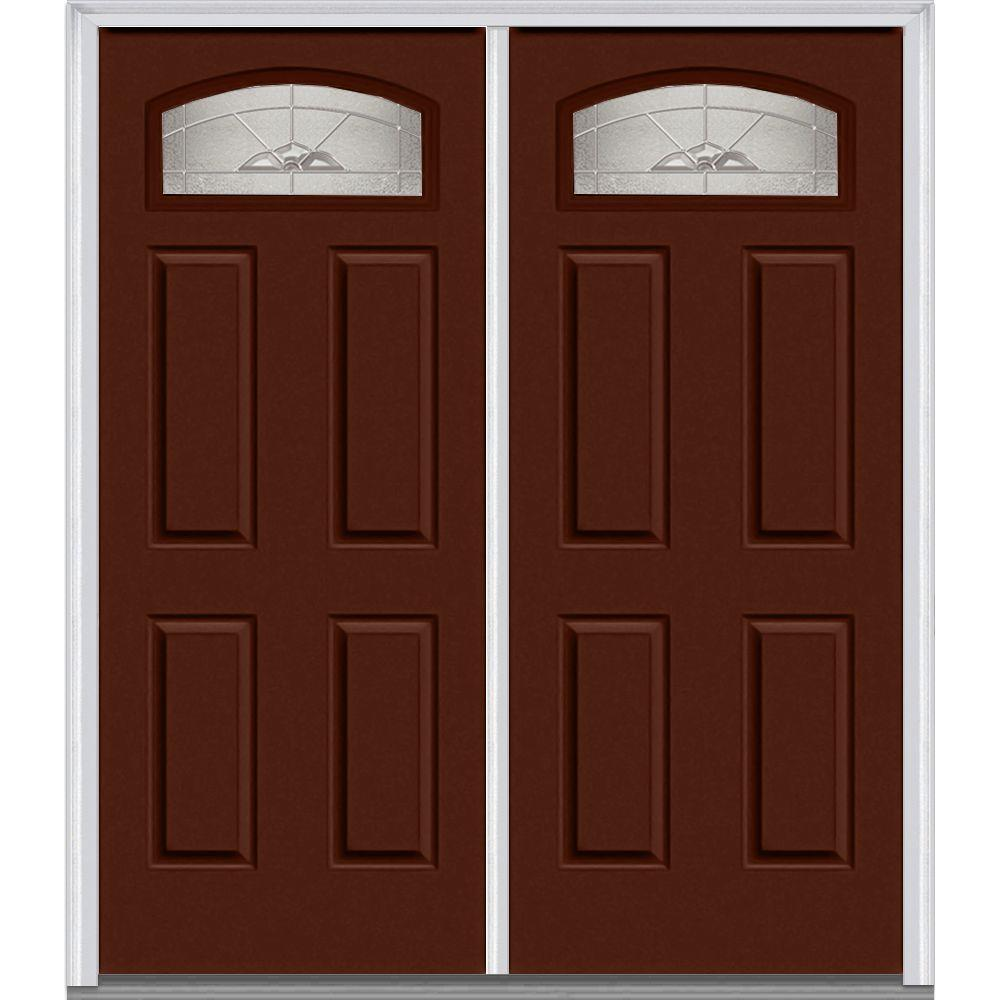 Milliken millwork 62 in x in master nouveau for Steel front entry doors