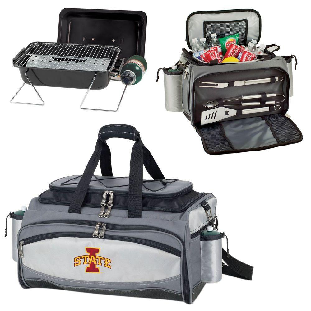 Vulcan Iowa State Tailgating Cooler and Propane Gas Grill Kit with