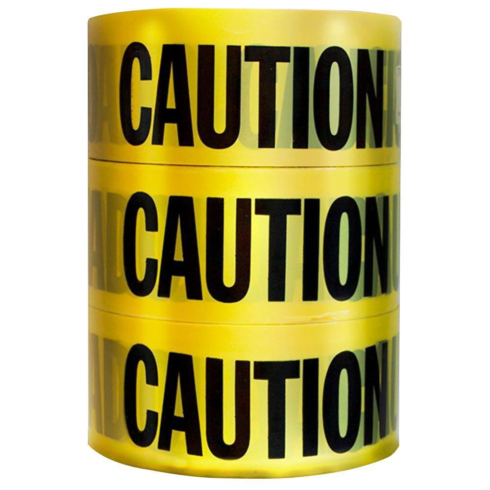 HDX 3 in. x 1000 ft. Caution Tape (3-Pack)-71-1003HD - The