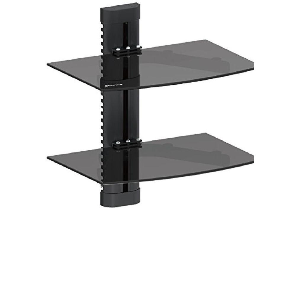 GForce DVD Double Shelf Wall Mount for Media Players with Tempered