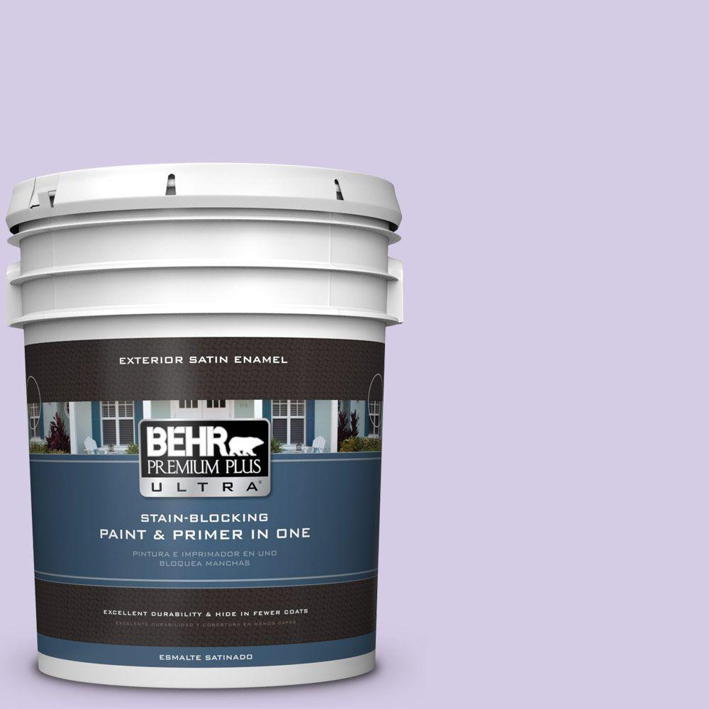 5-gal. #640A-3 Potentially Purple Satin Enamel Exterior Paint