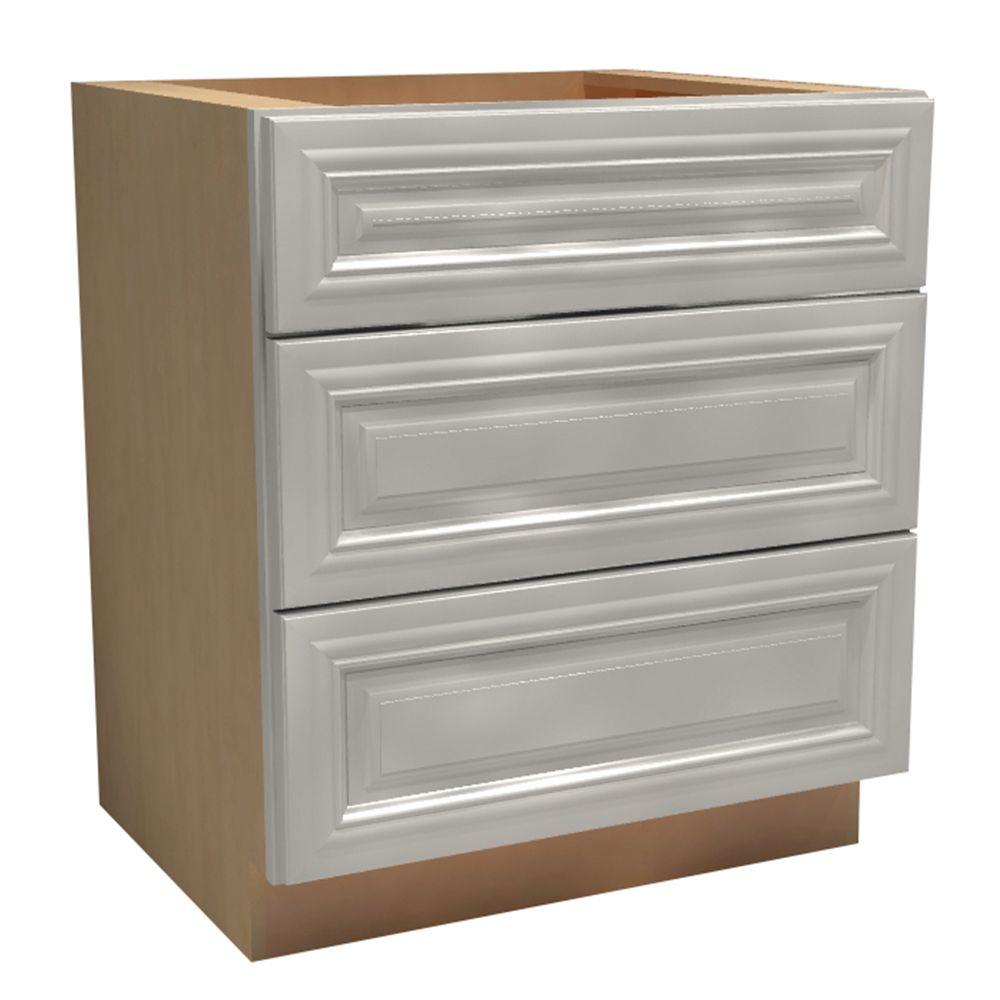 24x34.5x24 in. Coventry Assembled Base Drawer Cabinet with 3 Drawers in