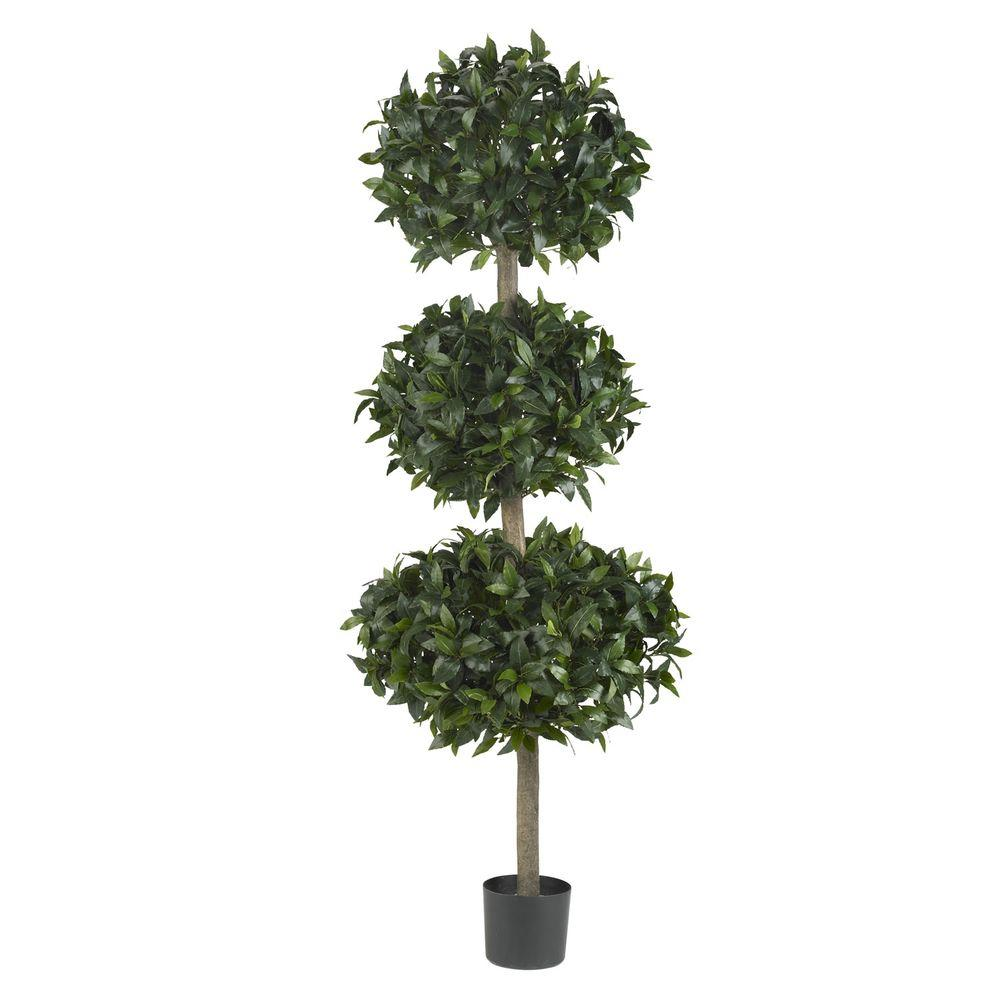 Nearly Natural Green Sweet Bay Triple Ball Tree