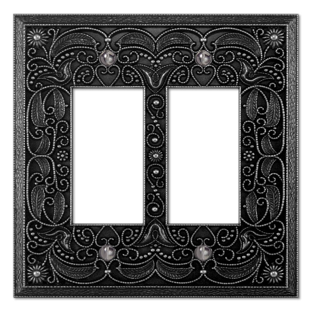 Creative Accents Steel 2 Decorator Wall Plate - Antique Pewter