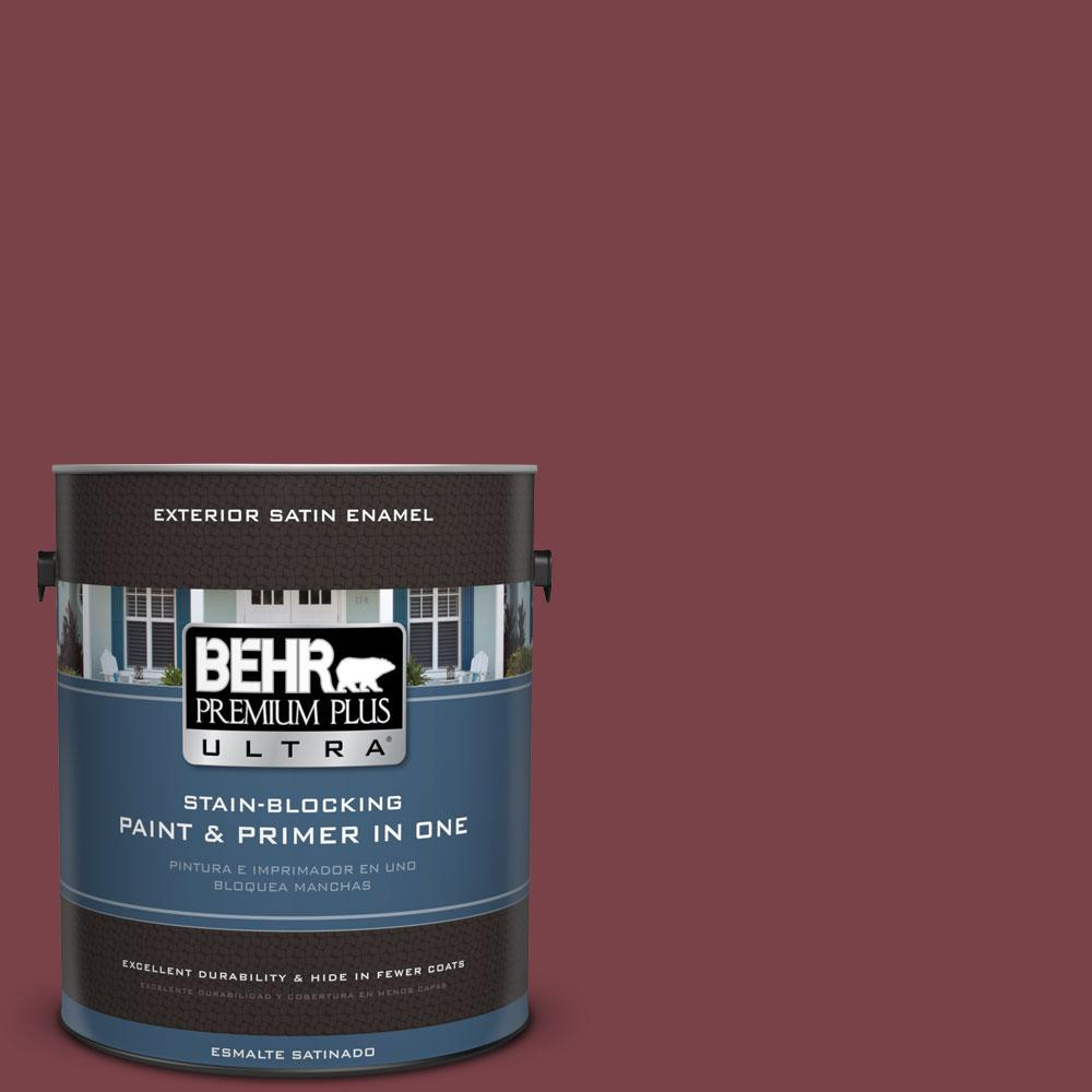 1-Gal. #PPU1-13 Spiced Wine Satin Enamel Exterior Paint