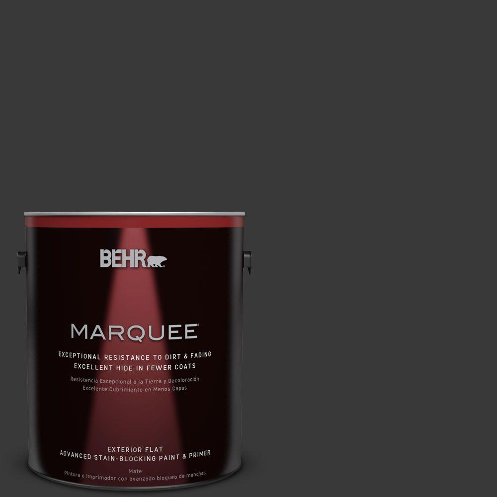 BEHR MARQUEE 1-gal. #PPF-59 Raven Black Flat Exterior Paint-445301 - The