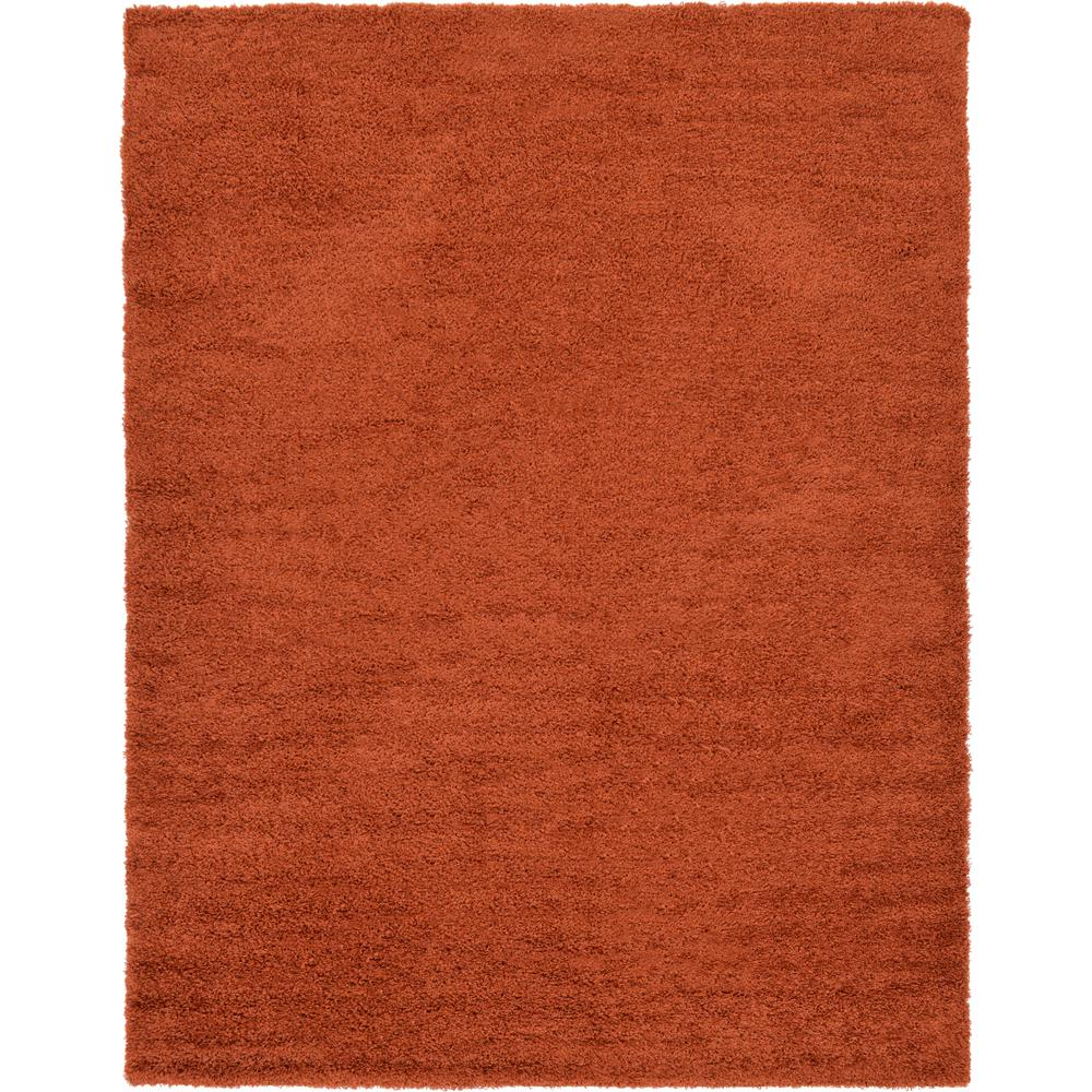 Linoleum Rug Turquoise Terracotta Area Rug Or Kitchen Mat: Unique Loom Solid Shag Terracotta 9 Ft. X 12 Ft. Area Rug