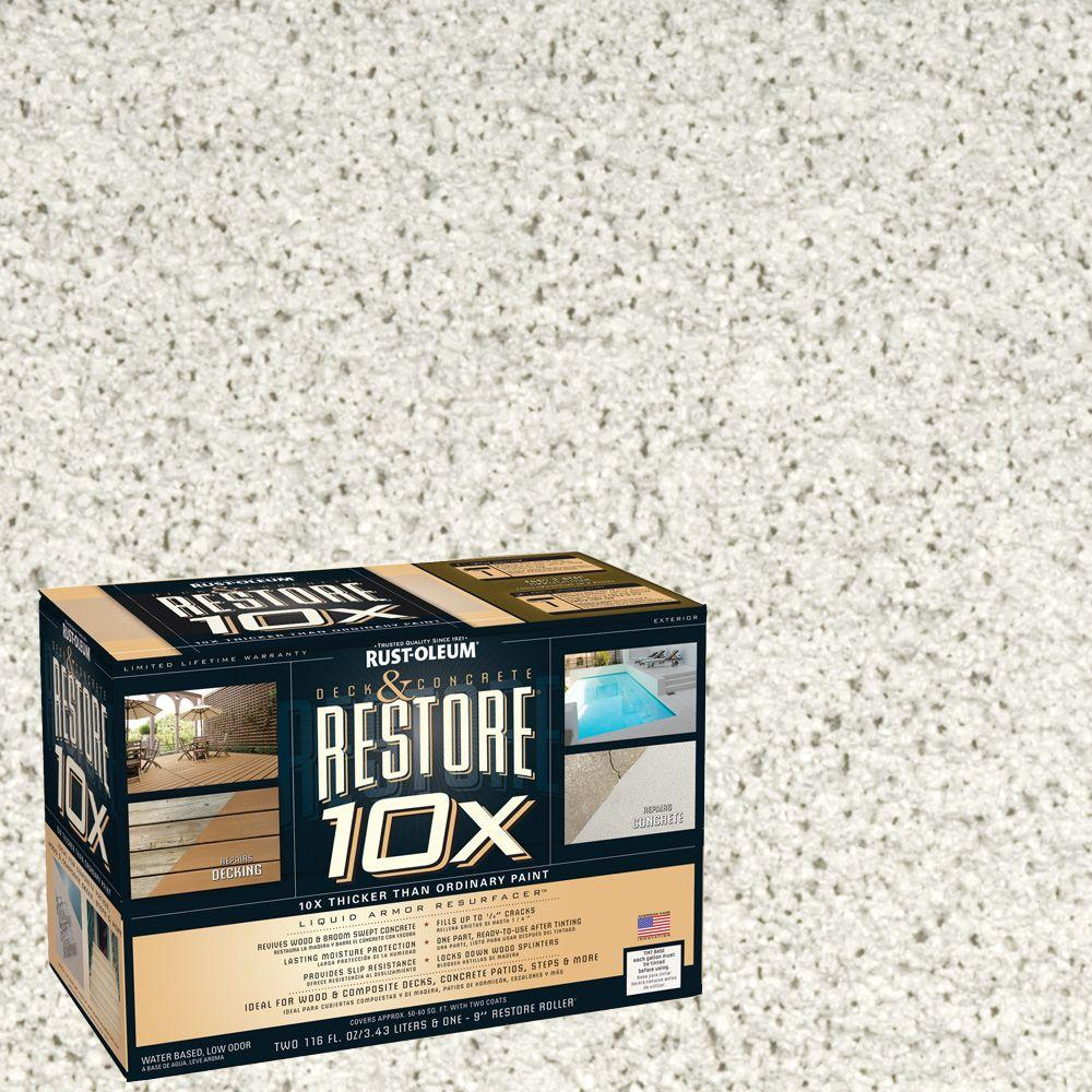 Rust-Oleum Restore 2-gal. White Deck and Concrete 10X Resurfacer