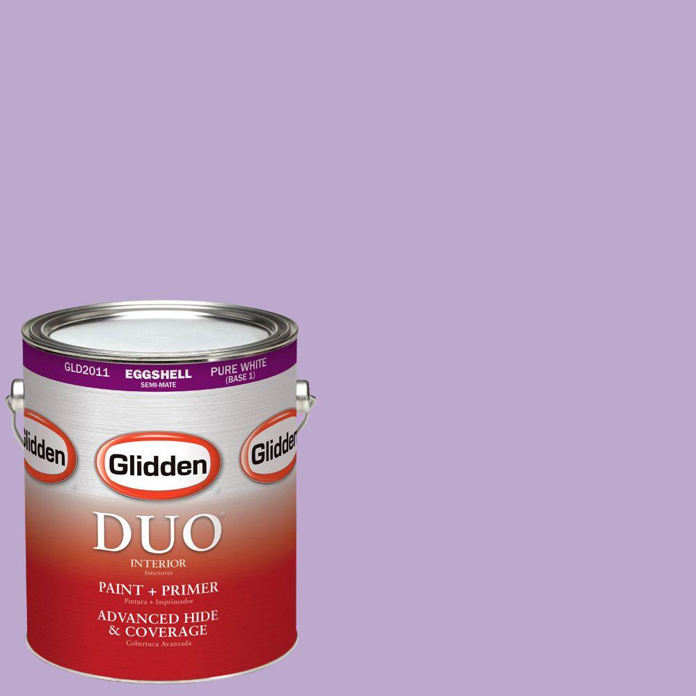 Glidden DUO 1-gal. #HDGV55 Sugared Plum Eggshell Latex Interior Paint with Primer