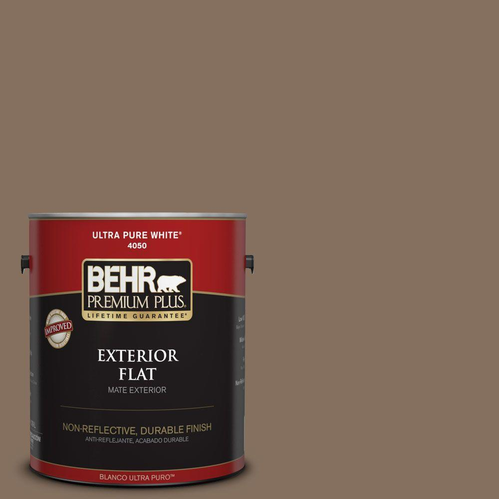 1-gal. #N230-6 Whiskey Barrel Flat Exterior Paint