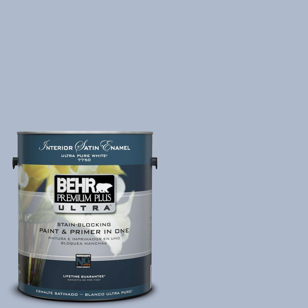 1-Gal. #PPU15-16 Simply Blue Satin Enamel Interior Paint