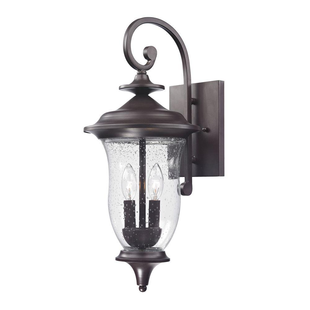 Titan Lighting Trinity 2-Light Outdoor Oil Rubbed Bronze Sconce-TN-50165 - The