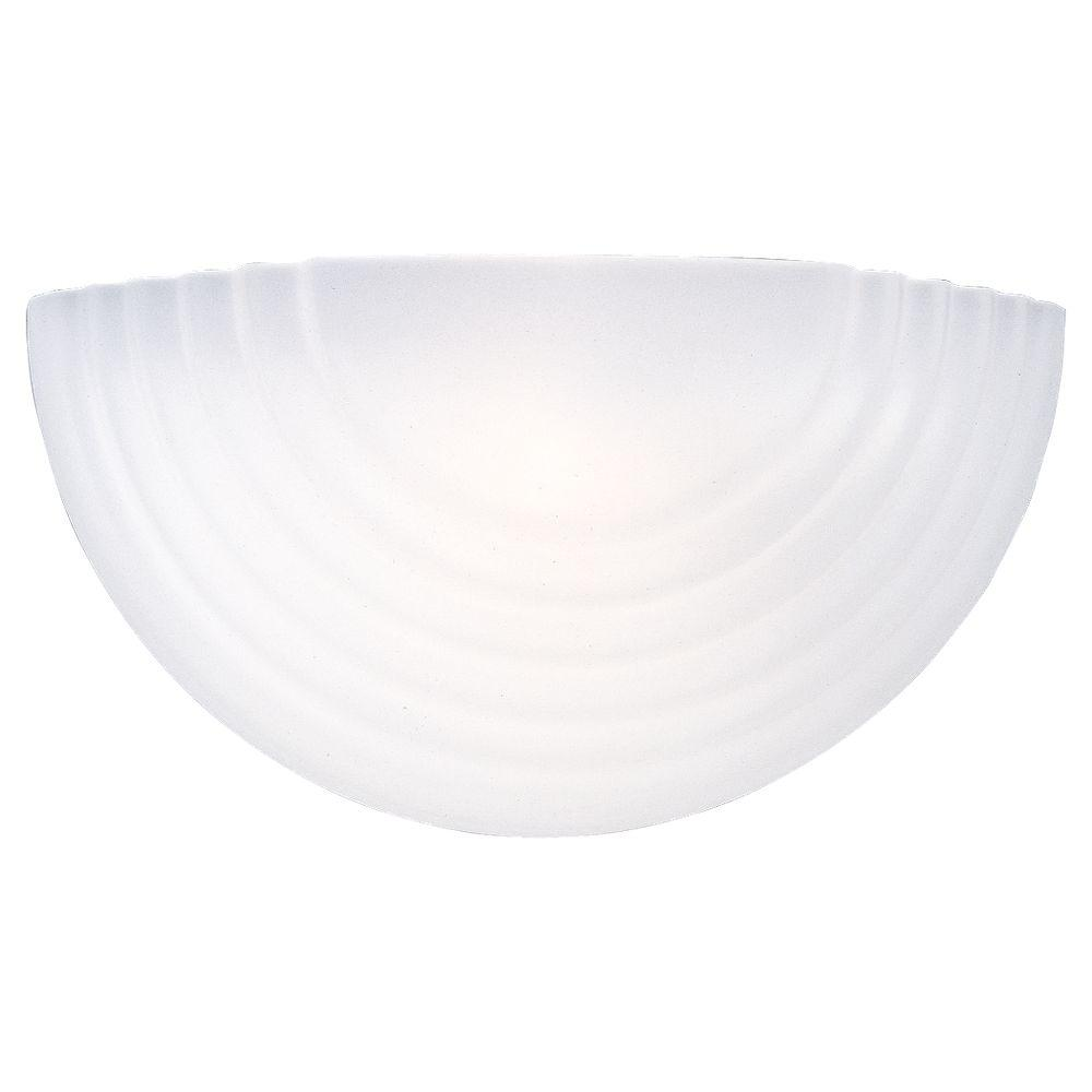 Sea Gull Lighting 1-Light White Decorative Sconce