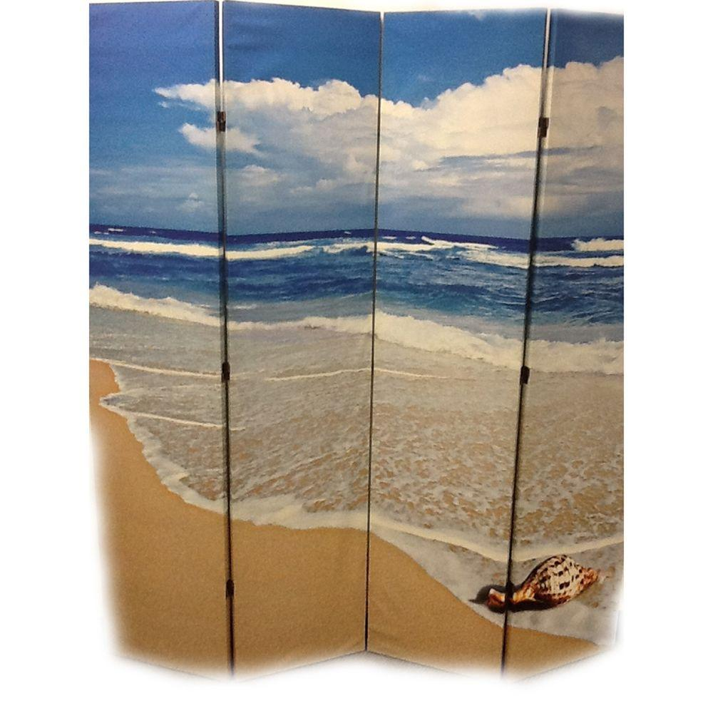 ORE International 5.92 ft. Under The Sea 4-Panel Room Divider