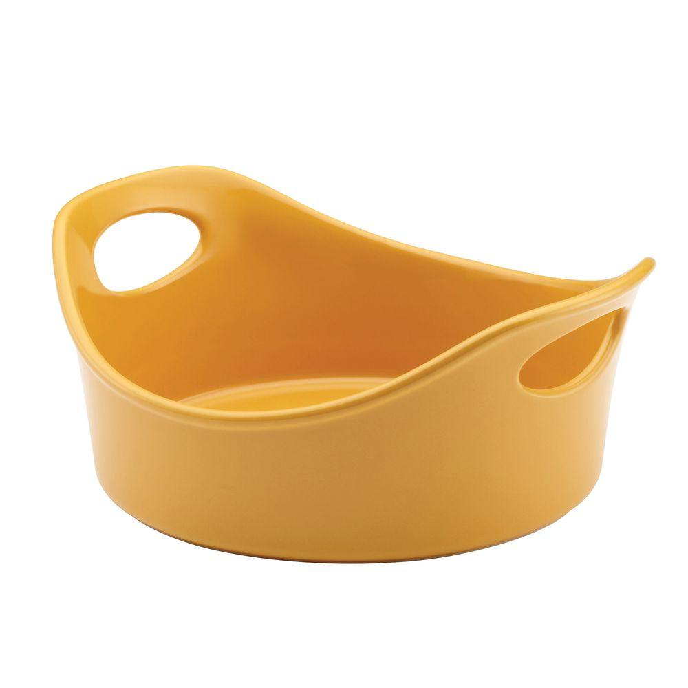 Rachael Ray Stoneware 1.5 qt. Open Baker in Yellow