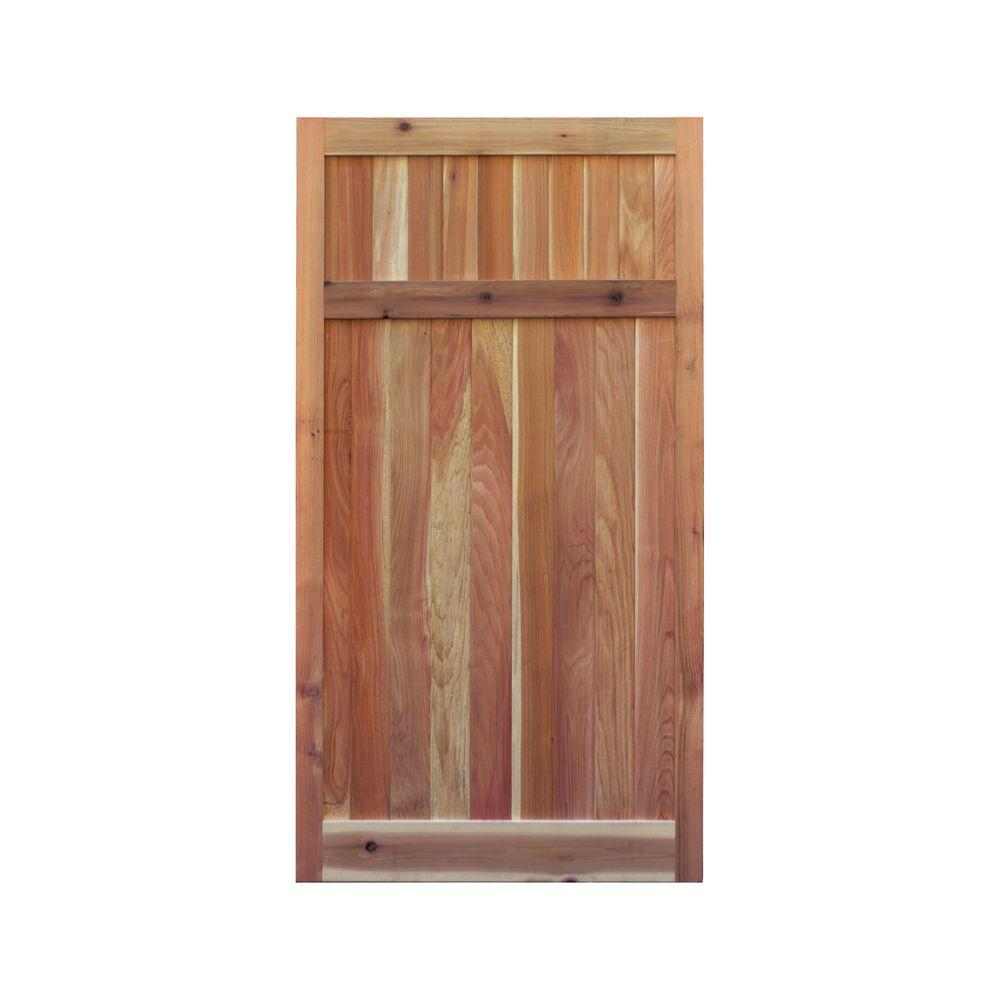 3 ft. x 6 ft. Western Red Cedar Flat Top Solid