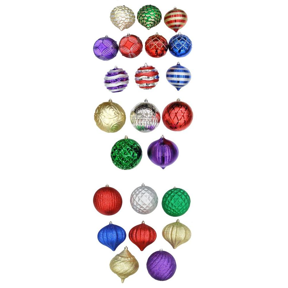 Home Accents Holiday 8 in. Assorted Shatter-Resistant Ornament-C-15741 - The
