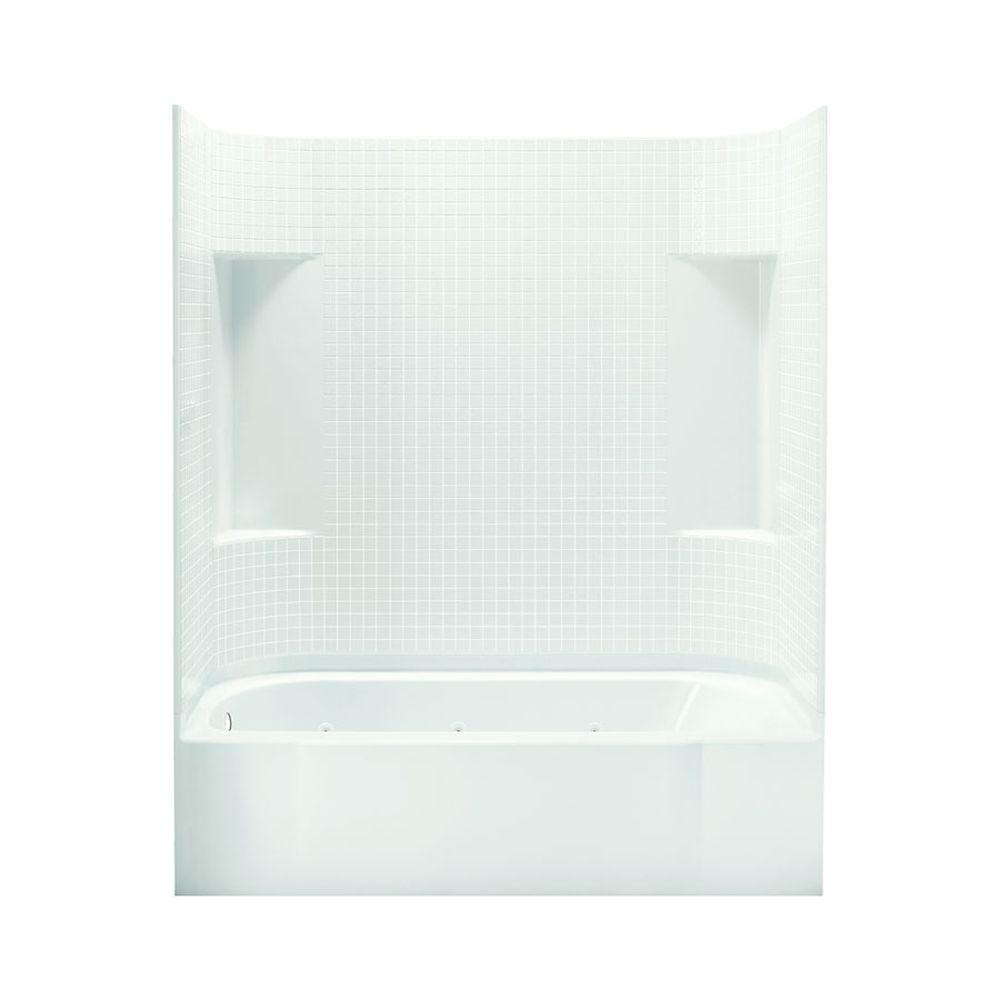 STERLING Accord 30 in. x 60 in. x 73.25 in. Bath and Shower Kit with Left-Hand Drain inWhite