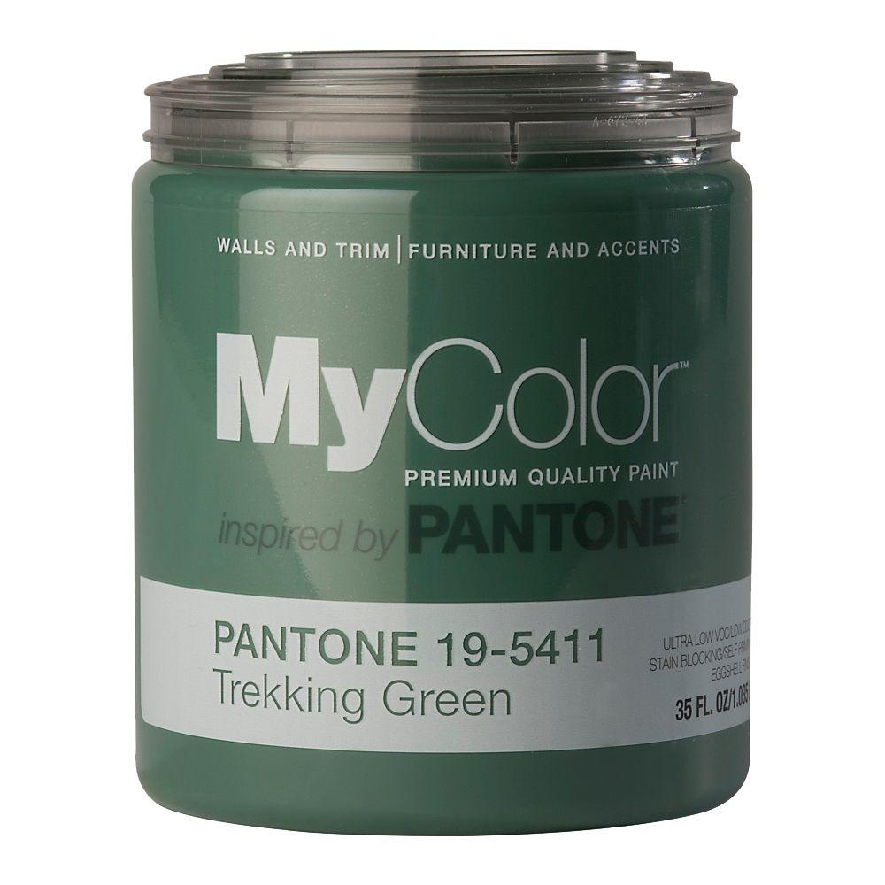 MyColor inspired by PANTONE 19-5411 35 oz. Eggshell Trekking Green Self Priming Paint-DISCONTINUED