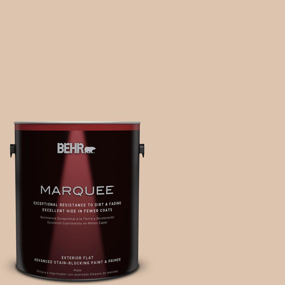 BEHR MARQUEE 1-gal. #PPU3-8 Sienna Dust Flat Exterior Paint-445001 - The