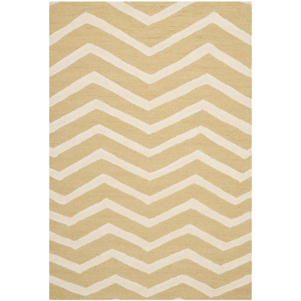 Safavieh Cambridge Light Gold/Ivory 6 ft. x 9 ft. Area Rug-CAM714L-6
