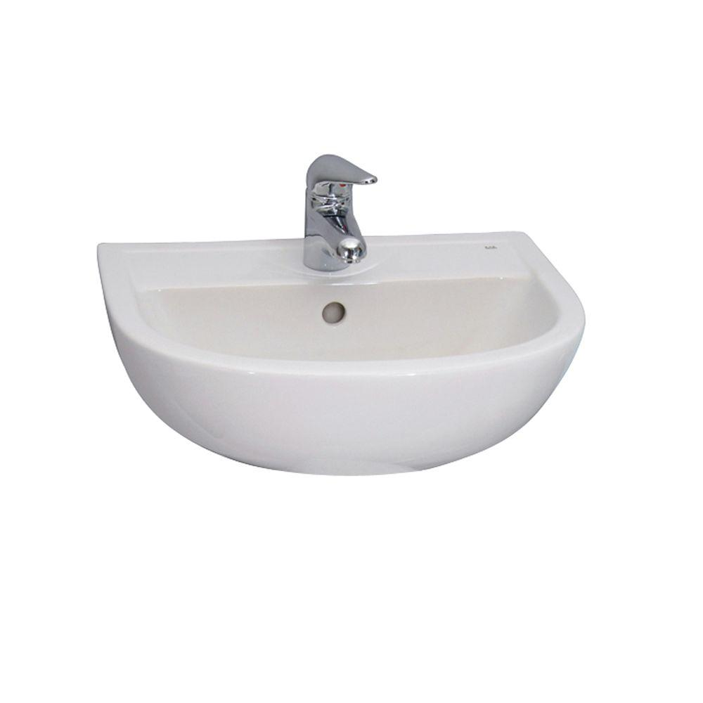Barclay Products Compact Wall-Mounted Bathroom Sink in White