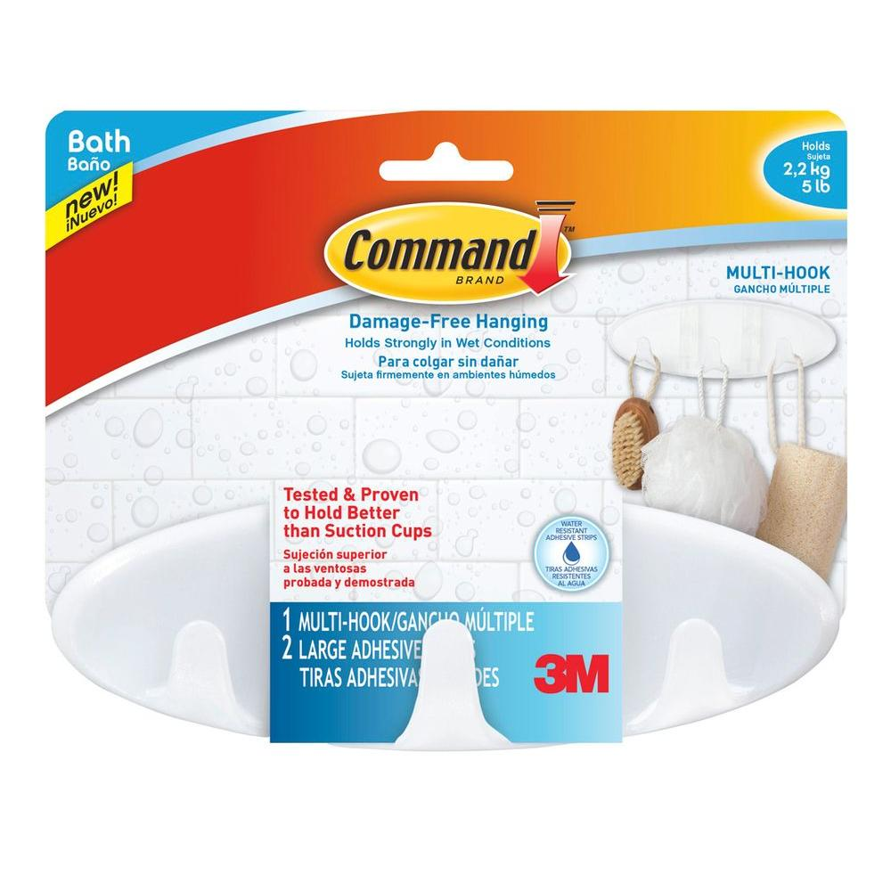 Command Large Multi Hook With Water Resistant Strips 3