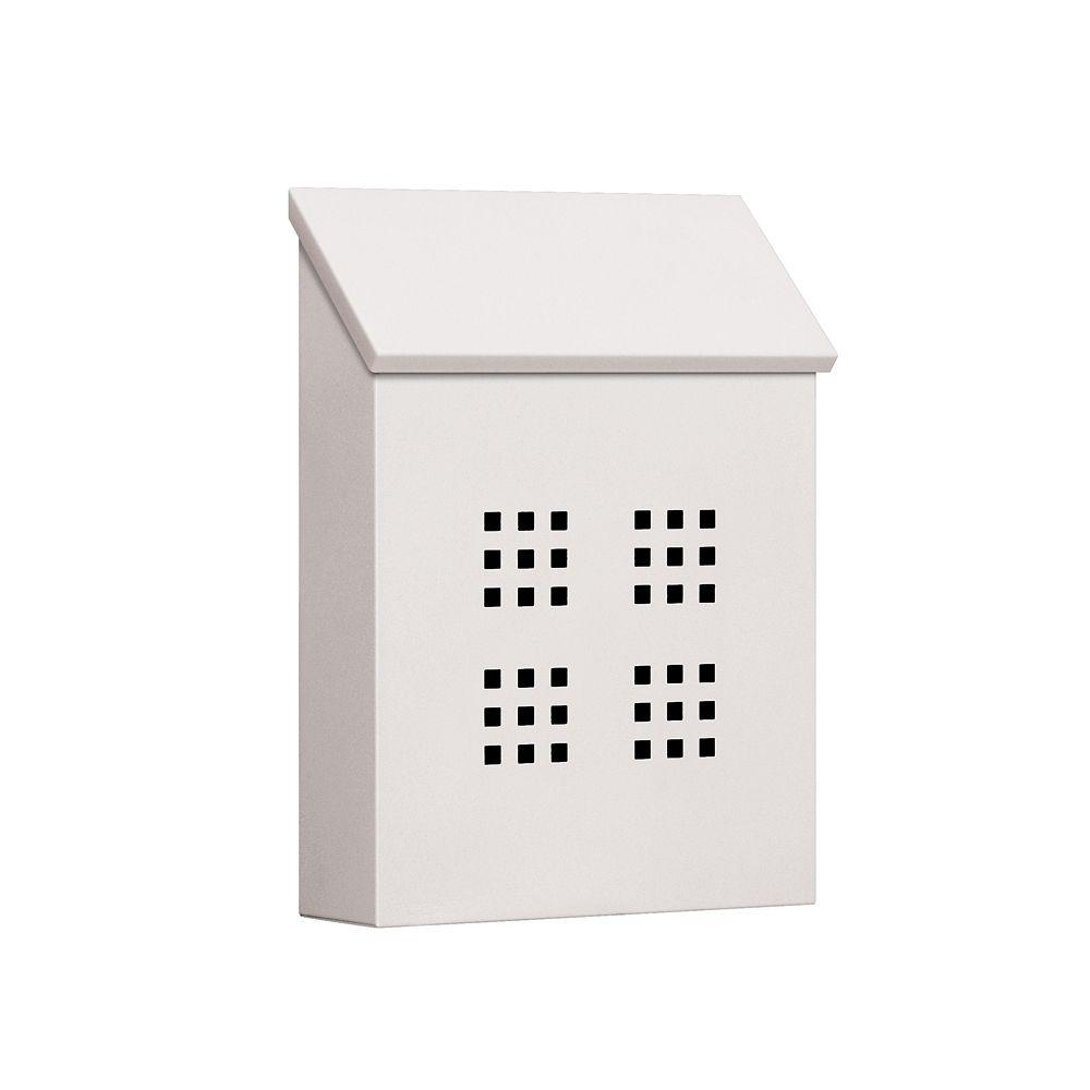 4600 Series White Decorative Vertical Traditional Mailbox