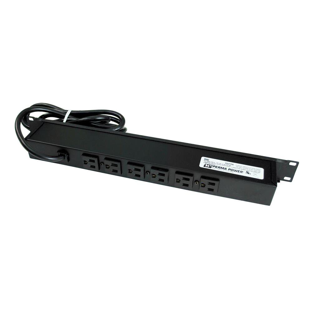 15 ft. 8-Outlet Rackmount Computer Grade Surge Strip with Lighted On/Off