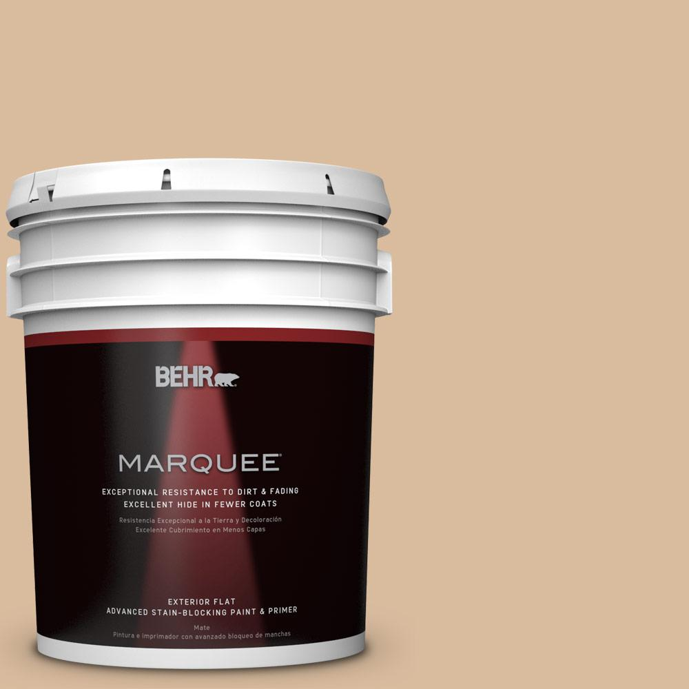 BEHR MARQUEE 5-gal. #BXC-40 Soft Wheat Flat Exterior Paint