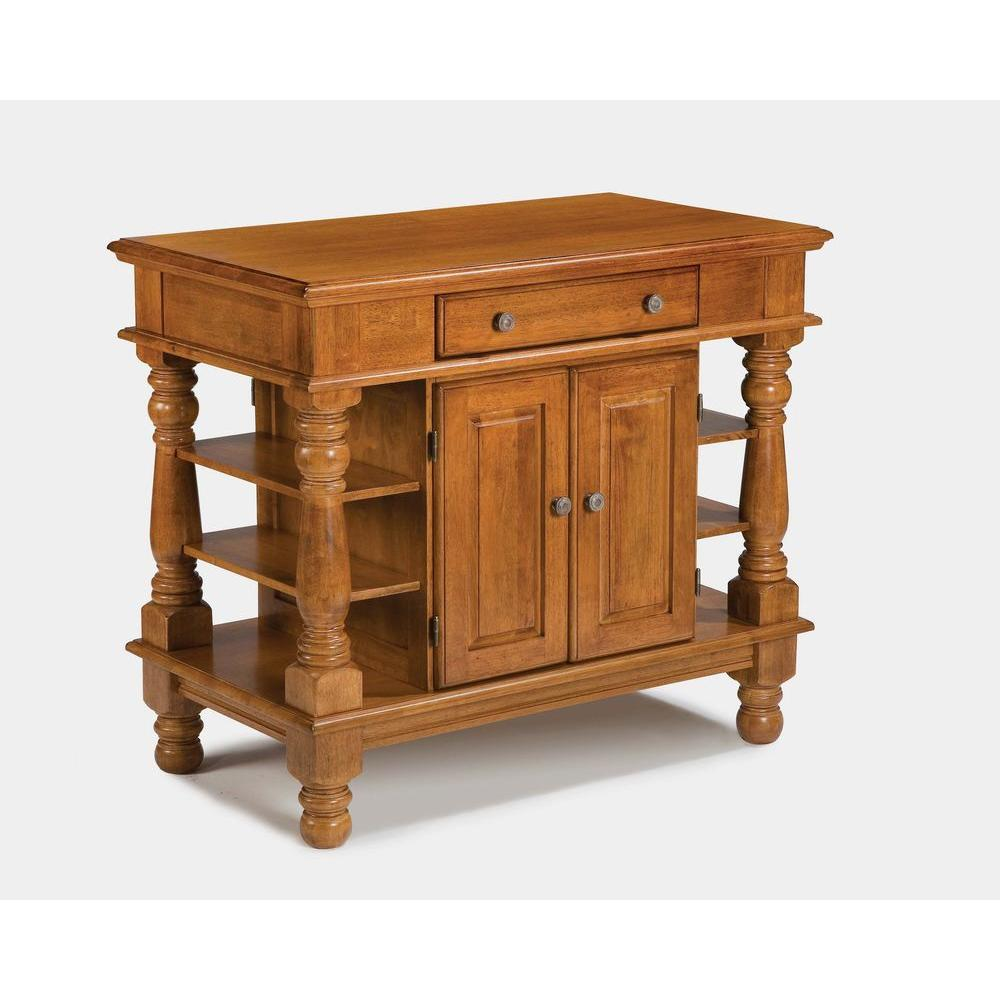 Home Styles Americana Kitchen Island in Cottage Oak-DISCONTINUED