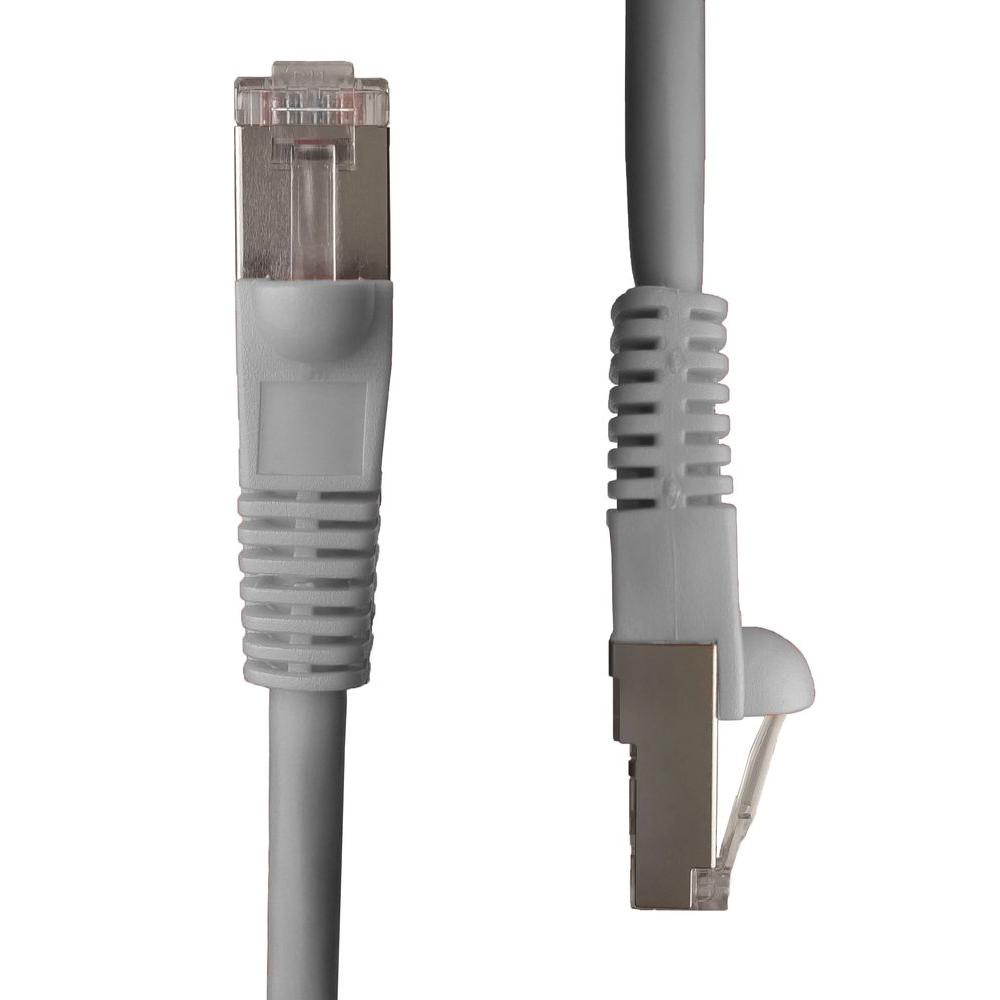 NTW 7 ft. Cat5e Snagless Shielded (STP) Network Patch Cable, Gray-345-S5E-007GY