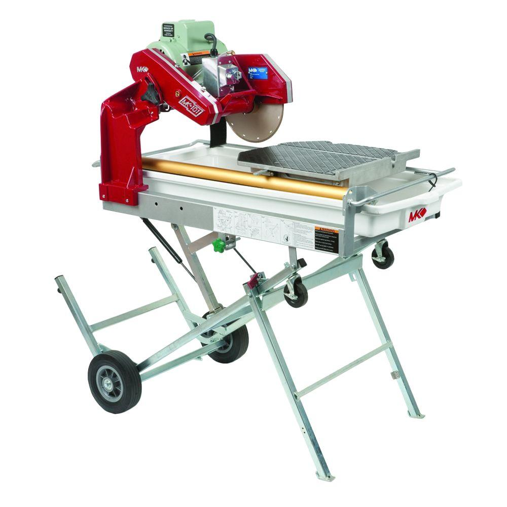 MK Diamond MK-101 PRO-24 10 in. Tile Saw with Stand and Wheels