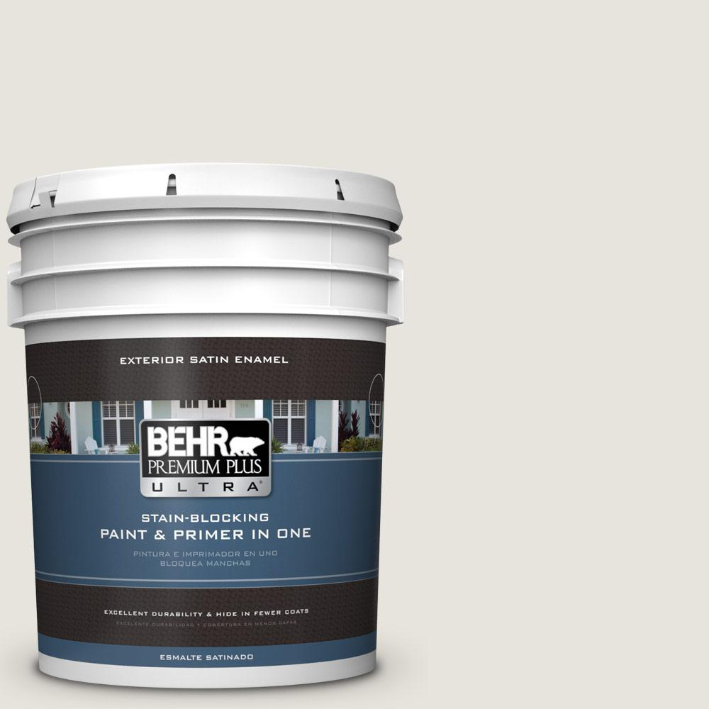5 gal. #PPU24-13 White Pepper Satin Enamel Exterior Paint